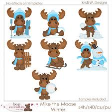 moose template mike molly moose templates clip designs commercial use
