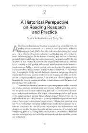 a historical perspective on reading research and practice pdf