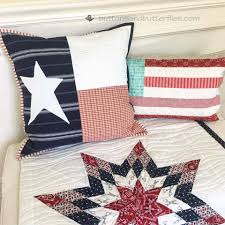 Image Of Texas Flag Buttons And Butterflies Texas Flag Quilted Pillow