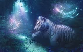 white tiger cub and phoenixes by marilucia on deviantart