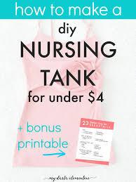 Work Clothes For Nursing Moms Diy Nursing Top For Under 4 Free Printable Straight Stitch