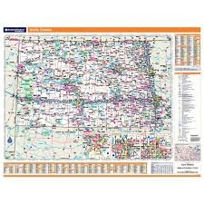 Map North Dakota North Dakota Laminated State Wall Map