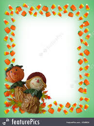 halloween background template halloween halloween border pumpkin scarecrow stock illustration