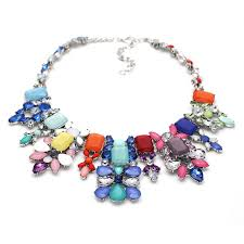 crystal necklace making images Ivory crystal opal stone statement necklace jpg