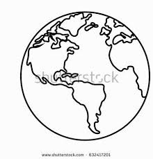 pleasant design ideas earth outline printable coloring tattoo