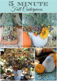 Fall Centerpieces 8 Five Minute Fall Centerpieces All Things Heart And Home