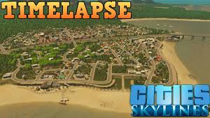 Small Town Cities Skylines Small Town Timelapse Youtube