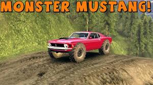 off road mustang spintires mod review monster mustang boss 429 download link