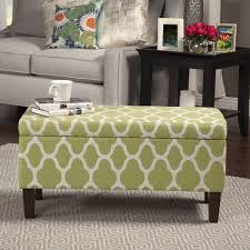 Noah Tufted Storage Ottoman Homepop Large Geometric Green Decorative Storage Ottoman Free