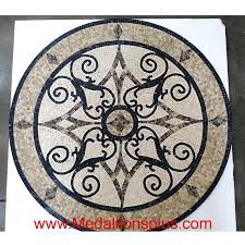 kristine ii 36 mosaic floor medallion honed medallionsplus