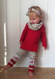 christmas leggings with ruffle bottom red green by yourlittleloves