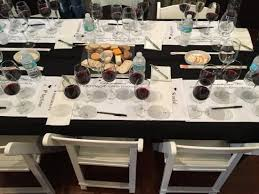 Wine Tasting Table Table Set Up For Wine Tasting And Blending Picture Of Carrera