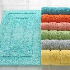 Aqua Bathroom Rugs by Classic Brights Egyptian Cotton Bath Rugs Kassatex
