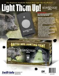 green light for hog hunting boar light baited feeder light green led