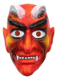 devil mask for halloween plastic pvc and rubber face masks produced by willer products