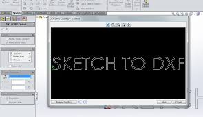 how to create a dxf of a sketch in solidworks computer aided