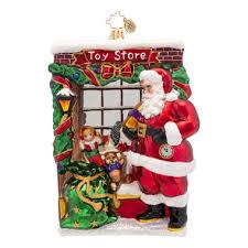 christopher radko ornaments 2015 radko santa ornament window shopper