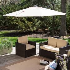 Offset Umbrella With Screen by Offset Patio Umbrella Lowes Neutral Beige Polyester Fabric Cover