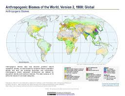 Columbia On World Map by Maps Anthropogenic Biomes Sedac