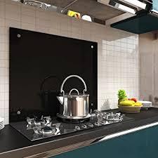 70x60cm glas küchenrückwand spritzschutz schwarz fliesenspiegel - Küche Wandschutz