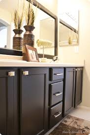 Painting Bathroom Cabinets Ideas How To Paint Bathroom Cabinets Black Www Islandbjj Us
