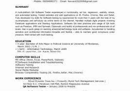 qa tester resume sample sample testing resume for experienced