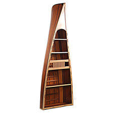 Wooden Canoe Shelf Plans by Boat Bookcase Ebay