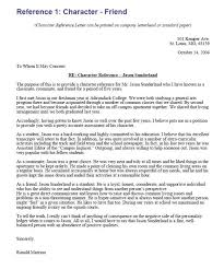 character reference letter template best business template