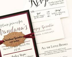vineyard wedding invitations winery invitations etsy