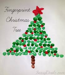 fingerprint christmas tree craft for kids tree crafts christmas