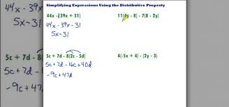 how to simplify using the distributive property math wonderhowto