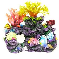 realistic artificial aquarium coral reef large polyp fish