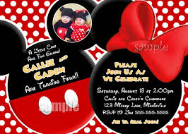 template mickey mouse birthday invitations baby mickey mouse