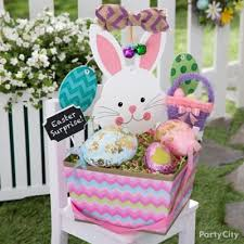 easter bunny baskets bunny ears and cottontail easter basket idea party city