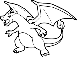 charizard coloring page mega charizard pokemon coloring pages
