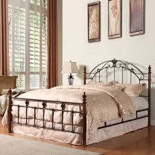 oxford creek queen size wood and metal bed home furniture