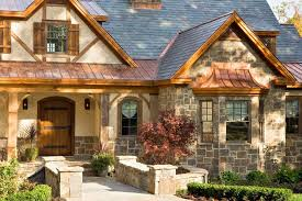 stucco gable roof home pictures exterior rustic with metal roof