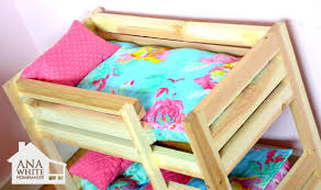 Free Instructions For Bunk Beds by Ana White Doll Bunk Beds For American Doll And 18