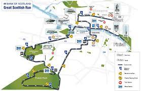 Road Map Of Scotland Bank Of Scotland Great Scottish Run Sep 30 2018 World U0027s Marathons