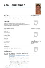 Marketing Resumes Samples by Vice President Of Marketing Resume Samples Visualcv Resume