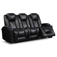 movie watcher polaris leather power reclining sofa value city