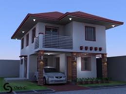 Two Story Home Designs Cheerful House With Night View Home Design