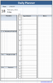 Daily Planner Template Excel Daily Planner Template Png 416 646 Pixels Shannon Bellanca Magda