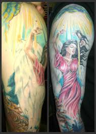 prof in tattoos chris interprets heaven and hell