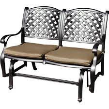 Refinishing Metal Patio Furniture - metal porch glider with cushions