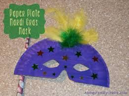mardi gras material how to make a paper plate mardi gras mask about family crafts