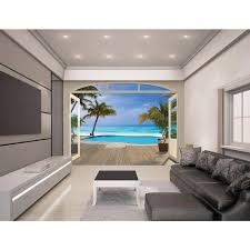 walltastic 120 in h x 96 in w baby fun on the farm wall mural w paradise beach wall mural
