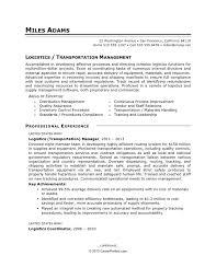 transportation resume exles logistics resume sle to civilian logistics sle resume
