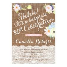 surprise 80th birthday invitations u0026 announcements zazzle