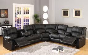 Motion Sectional Sofa Faux Leather Reclining Motion Sectional Sofa W Storage Console